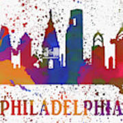 Philly Color Splash Poster