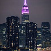 Pink Empire State Building Poster