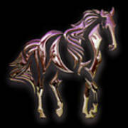 Purple Horse Poster