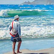 Pismo Fisherman Poster