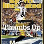 Pittsburgh Steelers Hines Ward, Super Bowl Xl Sports Illustrated Cover Poster