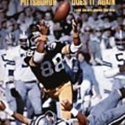 Pittsburgh Steelers Lynn Swann, Super Bowl X Sports Illustrated Cover Poster
