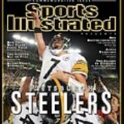 Pittsburgh Steelers Qb Ben Roethlisberger, Super Bowl Xliii Sports Illustrated Cover Poster