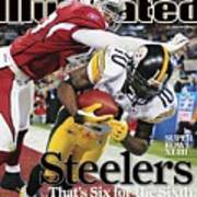 Pittsburgh Steelers Santonio Holmes, Super Bowl Xliii Sports Illustrated Cover Poster