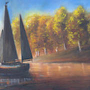Plain Sailing, Boat Painting Poster