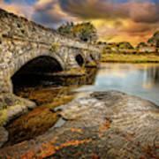 Pont Pen-y-llyn Bridge Snowdonia Poster