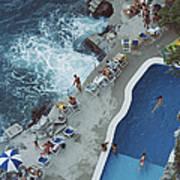 Pool On Amalfi Coast Poster