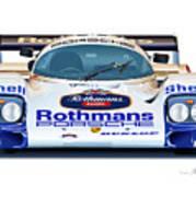 Porsche 962 Al Holbert Racing Poster