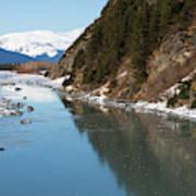 Portage Creek Portage Glacier Highway Alaska Poster