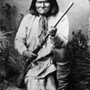 Portrait Of Apache Chief Geronimo Poster