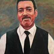 Portrait Of Artist Carl Butler Poster