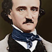 Portrait Of Edgar Allan Poe, Circa 1849 Poster