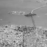 Portrait View Of Downtown San Francisco From Commertial Airplane Poster