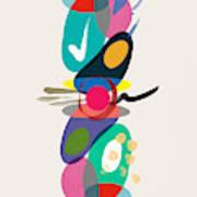 Positive Colors Building Poster