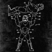 Pp885-black Grunge Hulk Hogan Wrestling Action Figure Patent Poster Poster