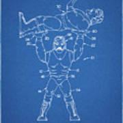 Pp885-blueprint Hulk Hogan Wrestling Action Figure Patent Poster Poster