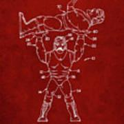 Pp885-burgundy Hulk Hogan Wrestling Action Figure Patent Poster Poster