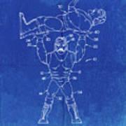 Pp885-faded Blueprint Hulk Hogan Wrestling Action Figure Patent Poster Poster