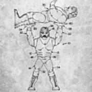 Pp885-slate Hulk Hogan Wrestling Action Figure Patent Poster Poster