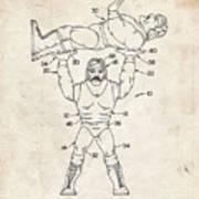 Pp885-vintage Parchment Hulk Hogan Wrestling Action Figure Patent Poster Poster