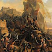 Prise De L'ile De Rhodes Par Les Chevaliers De L'ordre Des Hospitaliers De Saint-jean De Jerusalem Poster