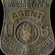 Prohibition Agent Badge Poster