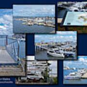 Provincetown Marina Cape Cod Massachusetts Collage Poster