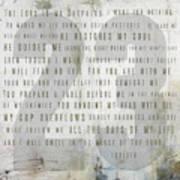 Psalm 23 Light Poster