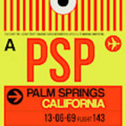 Psp Palm Springs Luggage Tag I Poster