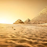Pyramids In Sand Poster