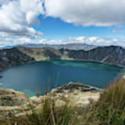 Quilotoa Crater Lake Poster