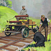 Railway Automobile Poster