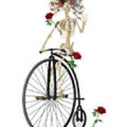 Rambling Rosy Penny Farthing Poster