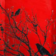 Raven - Black Over Red Poster