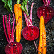 Raw Vegetables For Roasting, On A Poster