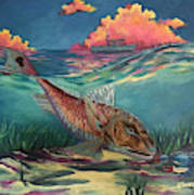 Red Fish Hunt Poster