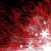 Red Snowflake Poster