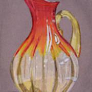 Red Vase Poster