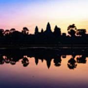 Reflections Of Angkor Wat - Siem Reap, Cambodia Poster