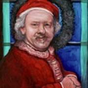 Rembrandt Santa Poster