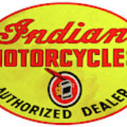 Retro Indian Motorcycles Poster