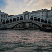Rialto  Bridge At Sunrise Poster