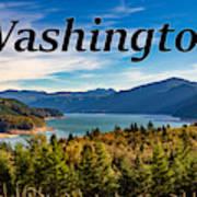 Riffe Lake, Washington Poster