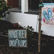Rinse Feet And Drop Flops Poster