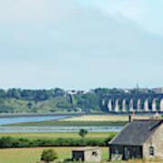 river and bridge towards Berwick upon Tweed scotland Poster