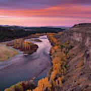 River Sunrise Poster