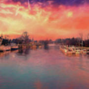 River Thames At Molesey Poster