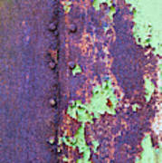 Rivets Rust And Paint Poster