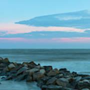 Rocky Shores Sunrise Poster