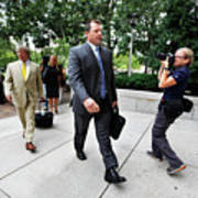 Roger Clemens Attends Hearing On Poster